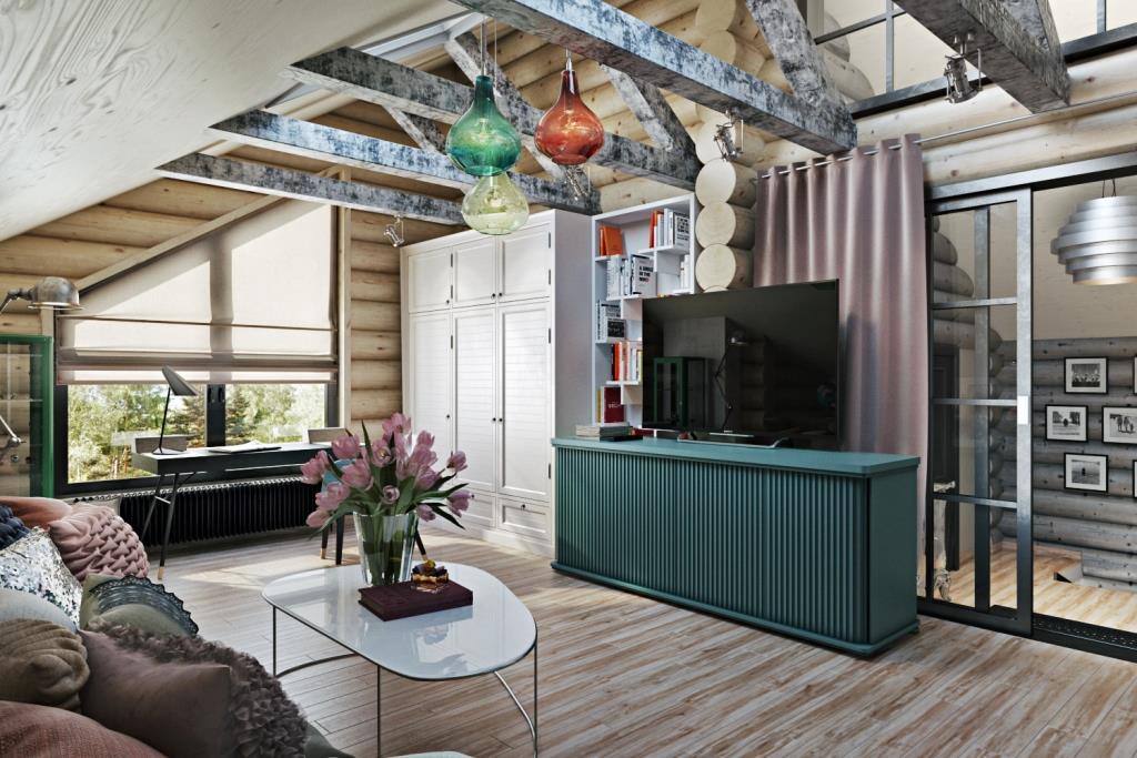В этом сезоне в моде палитра мятных оттенков. Отделочные материалы достаточно спокойные и светлые, а вот мебель, свет и декор достаточно яркие. В итоге мы получили жизнерадостный интерьер