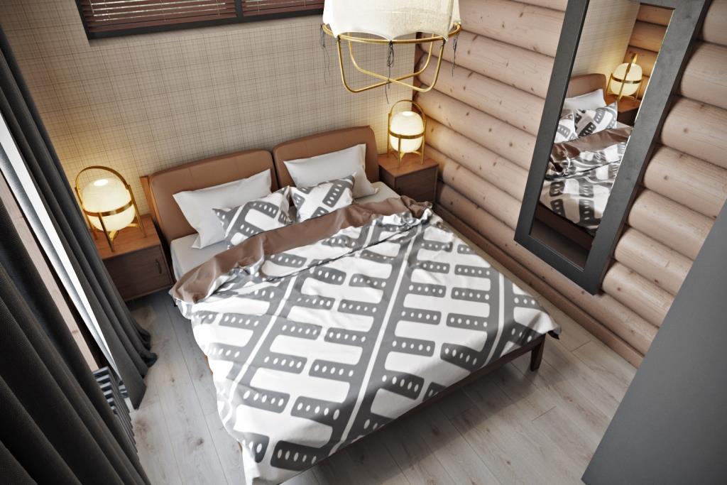 Легкое, уютное и непринужденное пространство является гостевой спальной комнатой