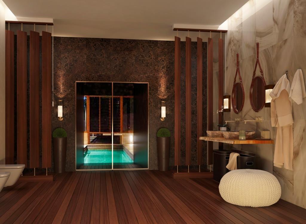 Ванная комната в стиле Армани от казанского дизайнера