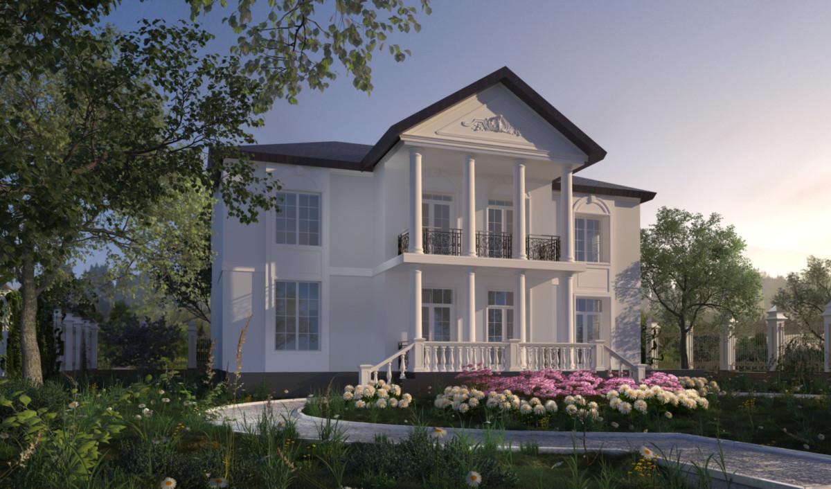 Гордый фасад в классическом стиле говорит окружающим о ваших предпочтениях.