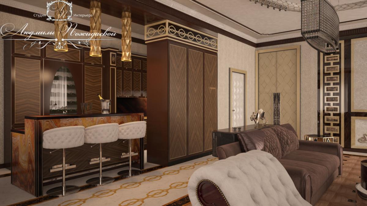 В этом проекте использованы все детали жизни в стиле лакшери. Брендовые модели мебели и света, открытые светлые пространства, дорогие продуманные полы, добротные материалы отделки - счастье в каждом уголке этой великолепной квартиры в Левел Барвиха Резиденс 176 м2.