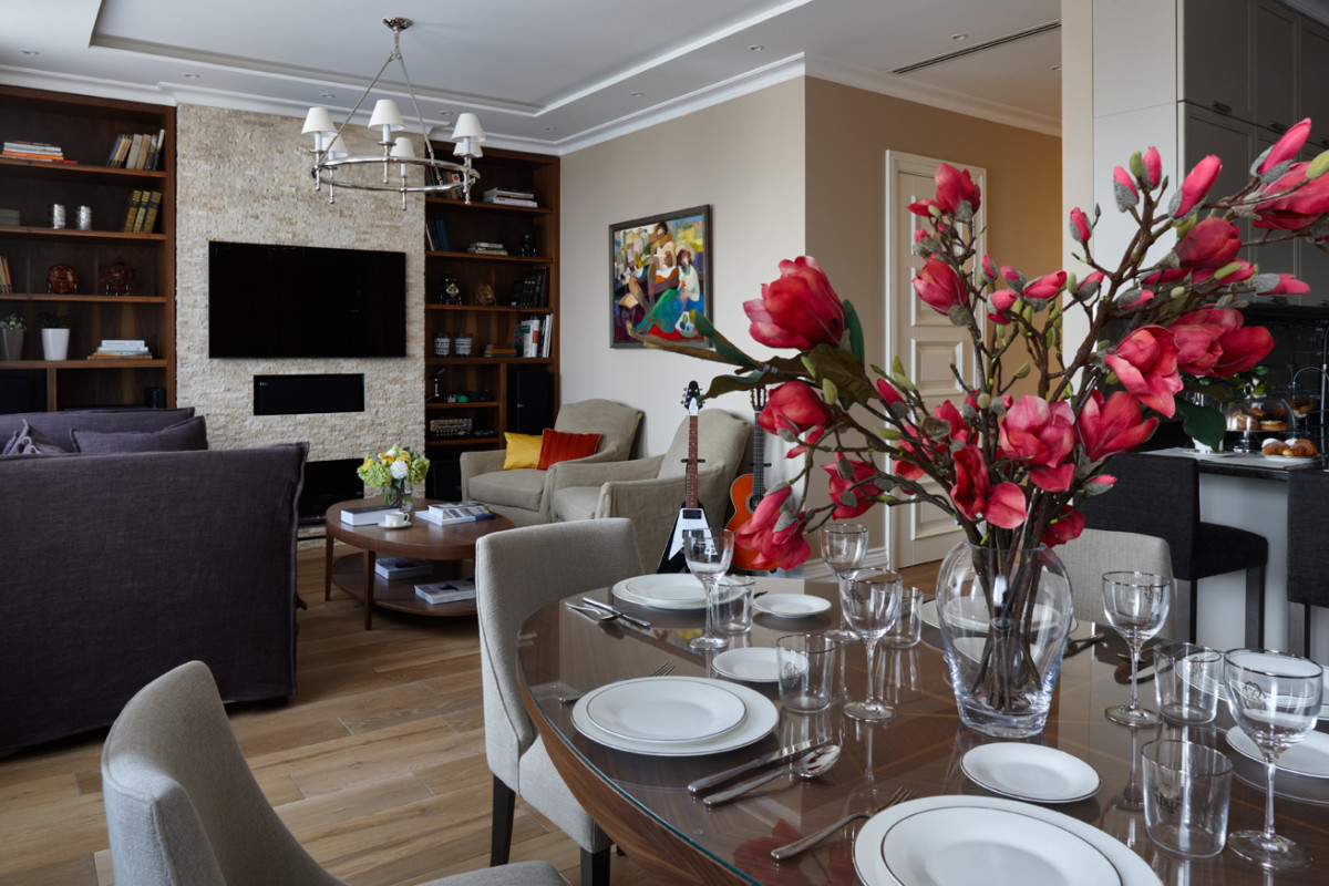 Искусство в интерьере: дизайн трёхкомнатной квартиры для семьи с ребёнком-первоклашкой