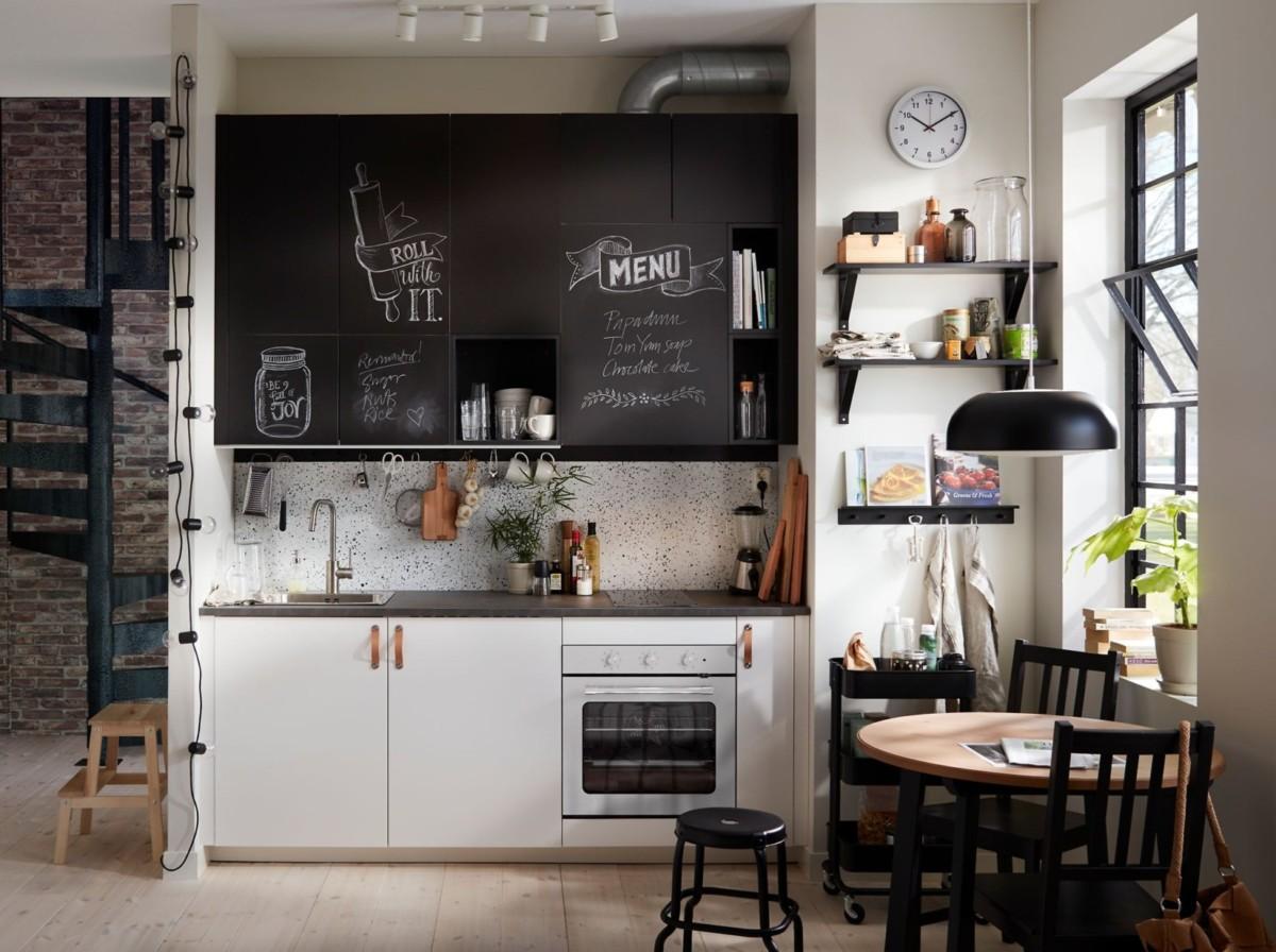 Кухня IKEA в стиле лофт