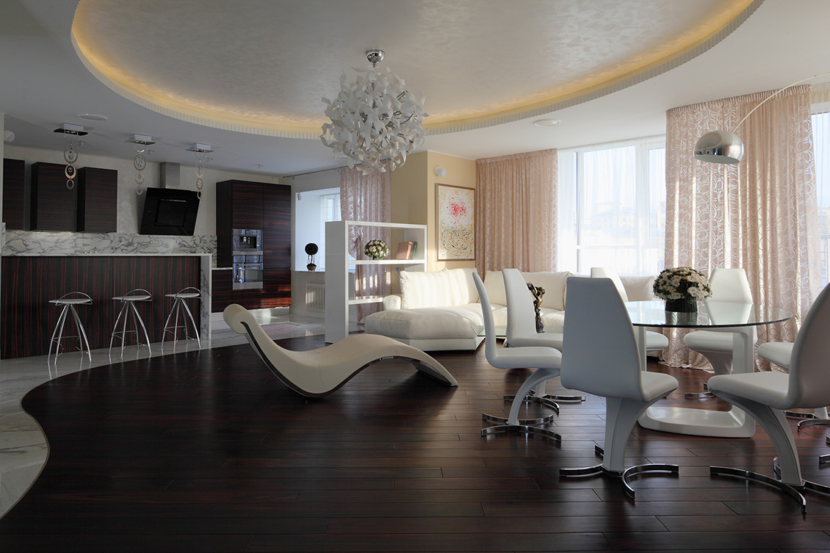 Квартиры мечты с гламурным интерьером
