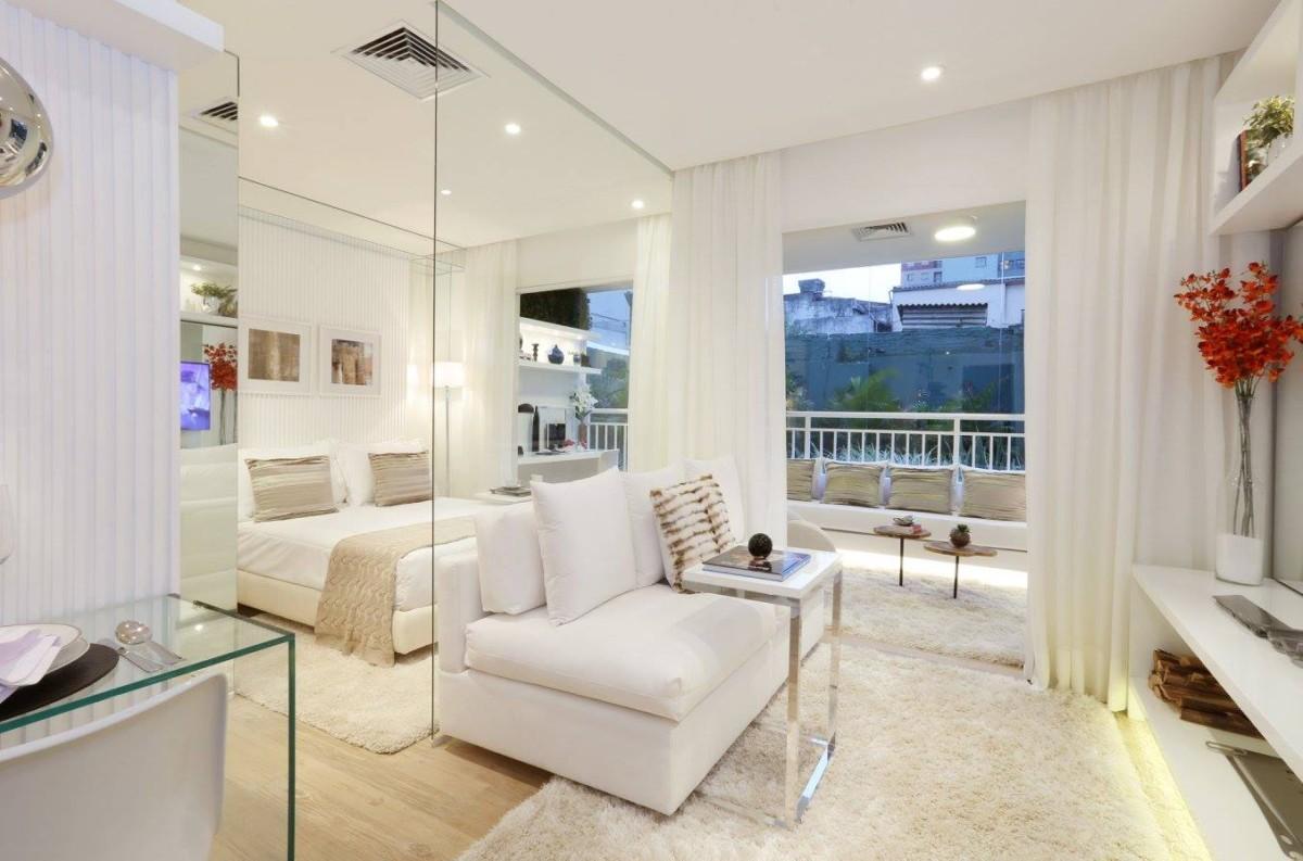Волшебно красивая квартира площадью 34 метра в стиле минимализм