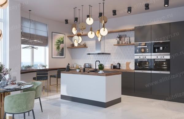 Кухня/столовая в  цветах:   Бордовый, Коричневый, Светло-серый, Серый, Фиолетовый.  Кухня/столовая в  стиле:   Неоклассика.