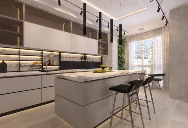 Кухня/столовая в  цветах:   Бежевый, Коричневый, Светло-серый, Темно-коричневый.  Кухня/столовая в  .