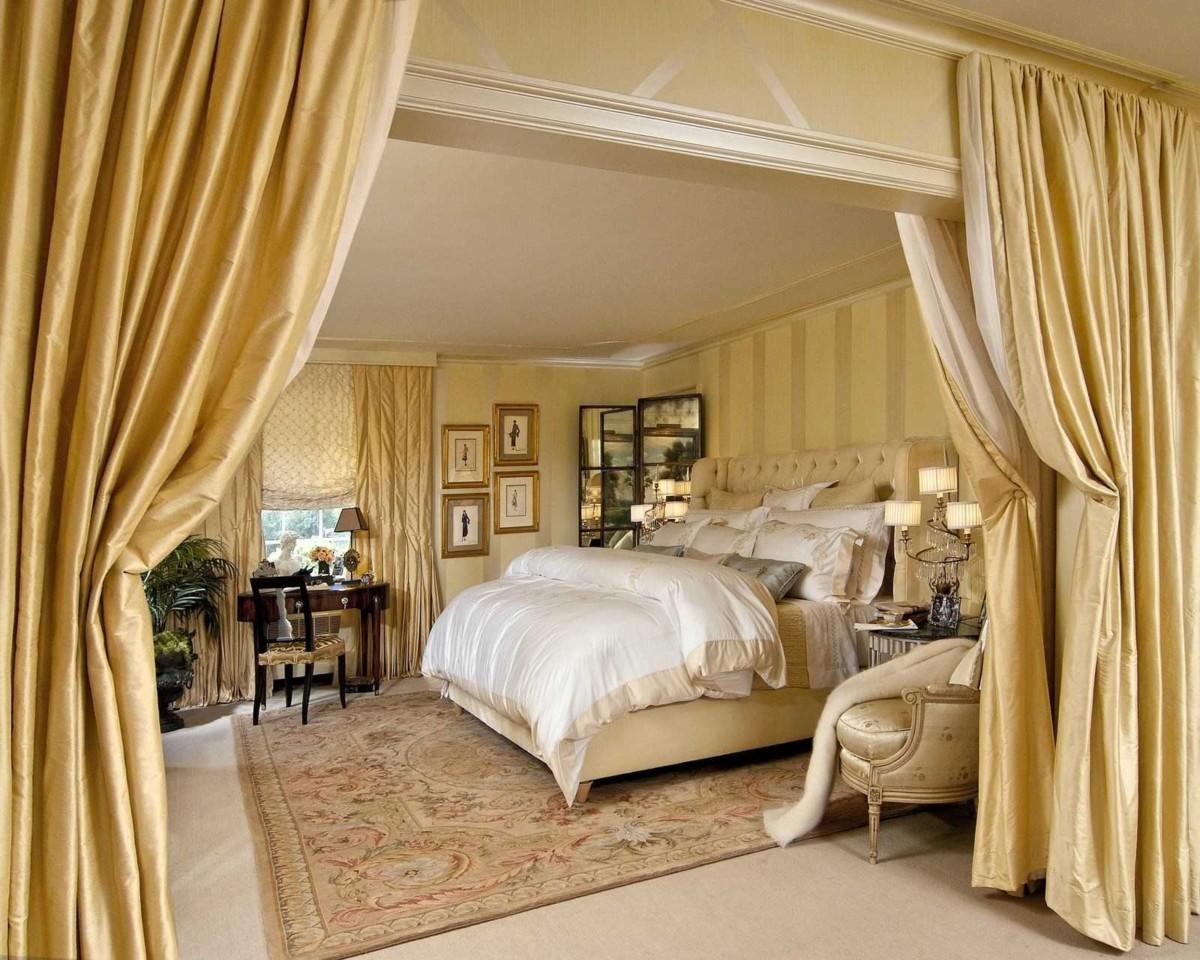 Ещё больше золота: 12 интерьеров золотых спален