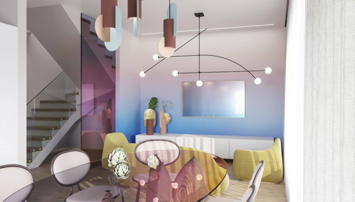 Игра цвета в интерьере «Аура»: современный коттедж в правильных оттенках