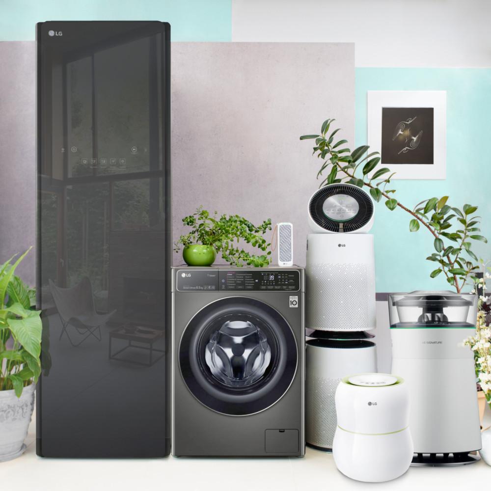 Компания LG презентовала стиральные машины LG AI DD, системы ухода за одеждой при помощи пара, климатические комплексы и очистители воздуха