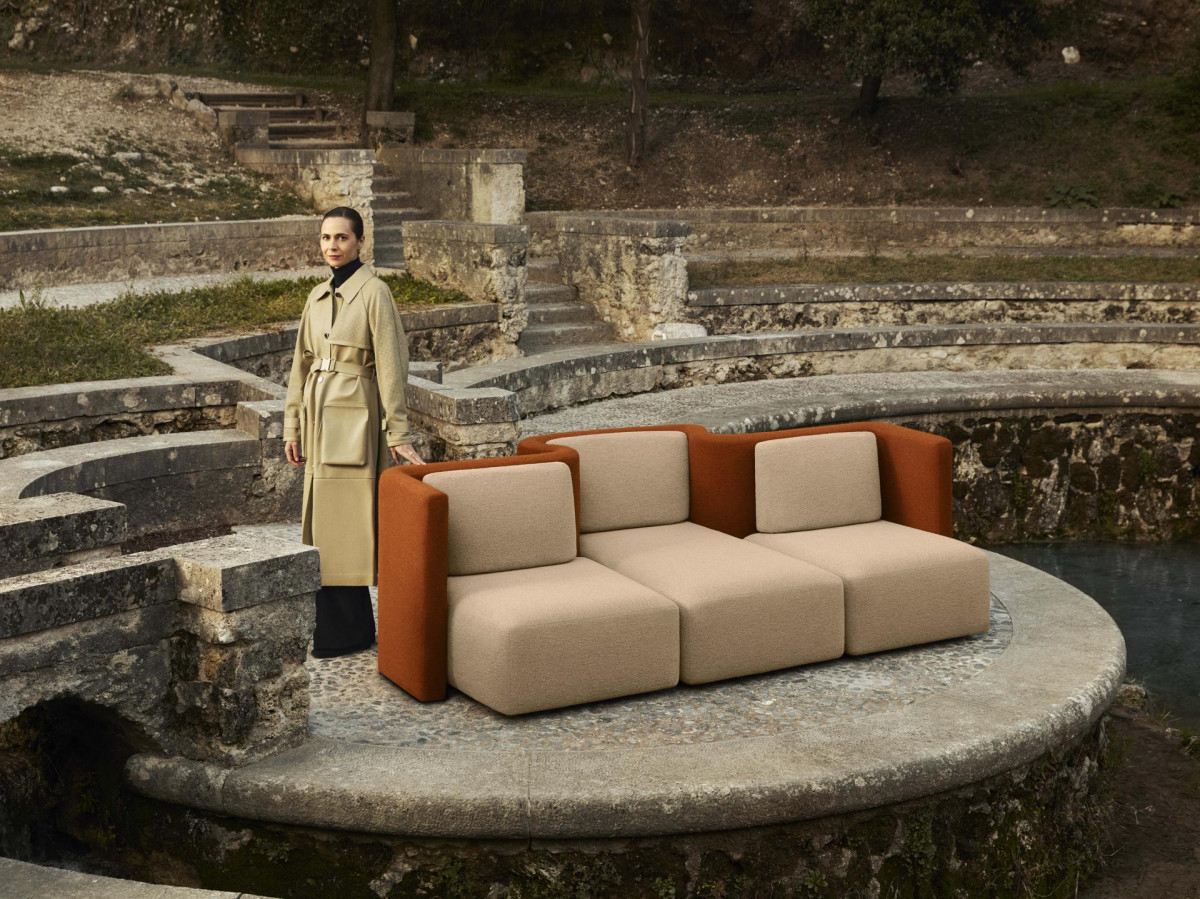 Изогнутые диваны в стиле ретро-будущего для Saba от Кристины Селестино