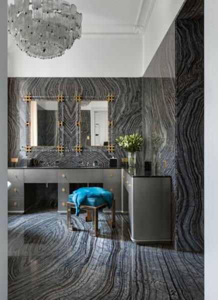 Ванная в  цветах:   Бирюзовый, Светло-серый, Серый.  Ванная в  стиле:   Классика.